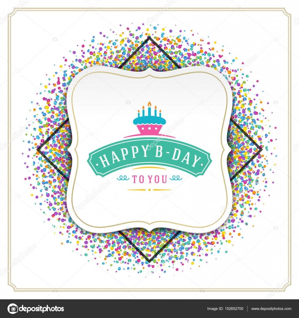 Happy Birthday Greeting Card Design Vektor Vorlage Stockvektor