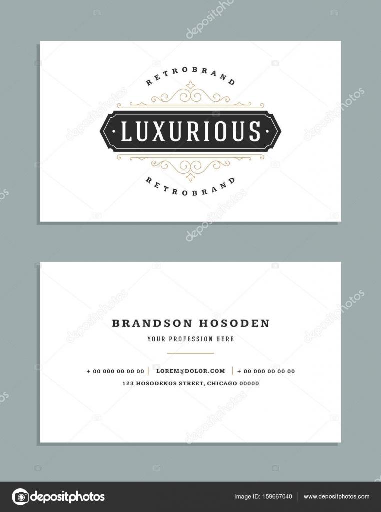 Tarjetas vintage ornamento estilo y lujo logo vector plantilla ...