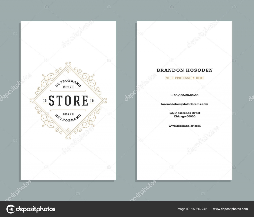 Business card vintage ornament style and luxury logo vector template business card vintage ornament style and luxury logo vector template retro elegant royal design flourishes ornamental frame on white background reheart Gallery