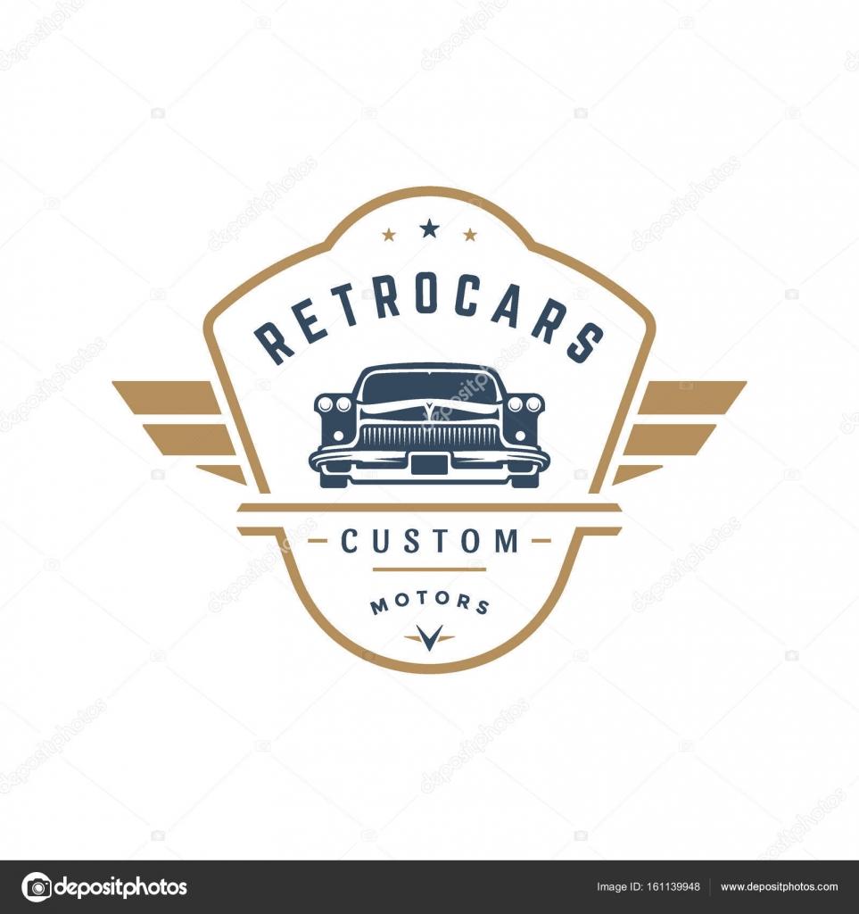 Frisiertes Auto Logo Vorlage Vector Design Element Vintage-Stil ...