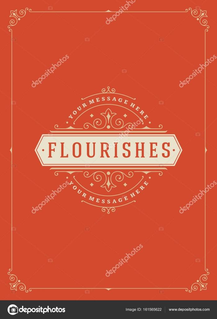 Plantilla de vector ornamento Vintage marco tarjetas de felicitación ...