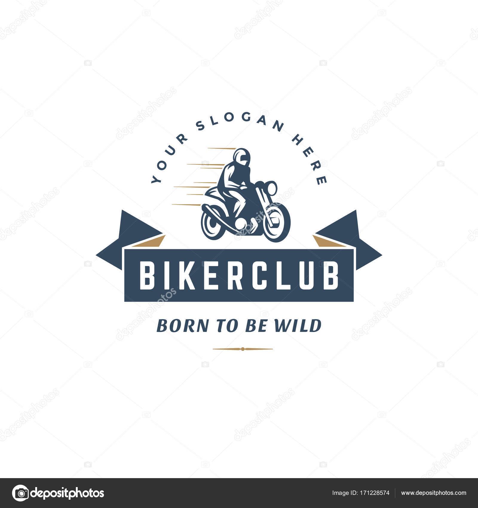 Sport Motorrad Logo Vorlage Vector Design Element Vintage-Stil ...