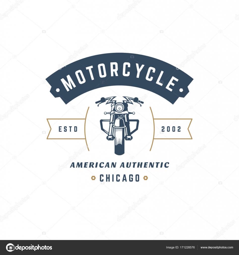Motorrad Club Logo Vorlage Vector Design Element Vintage-Stil ...
