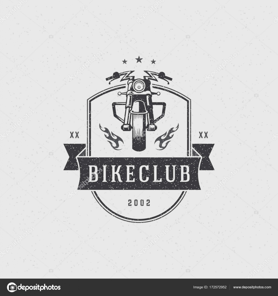 Motorrad Club Logo Vorlage Vector Design Element Vintage-Stil ...