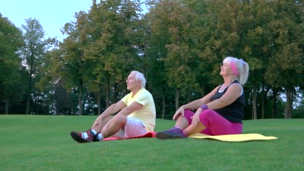 Pár dělá jógu venkovní
