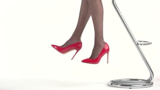 Ladys nohou na vysokých podpatcích