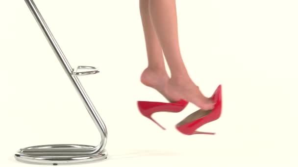 Mladé dámy nohy a boty