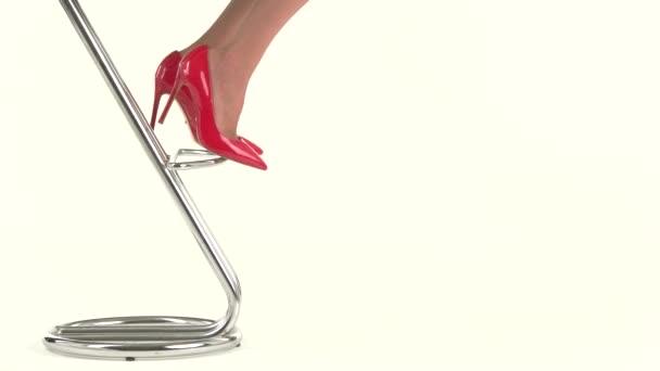 Ladys feet in heels.