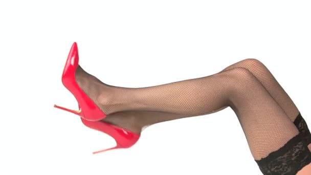 Nohy v červené podpatky