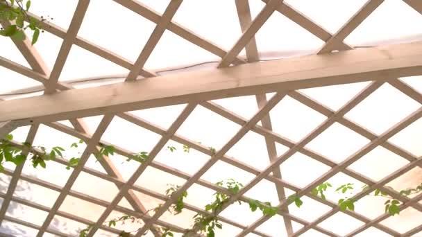 Dřevěná pergola roof