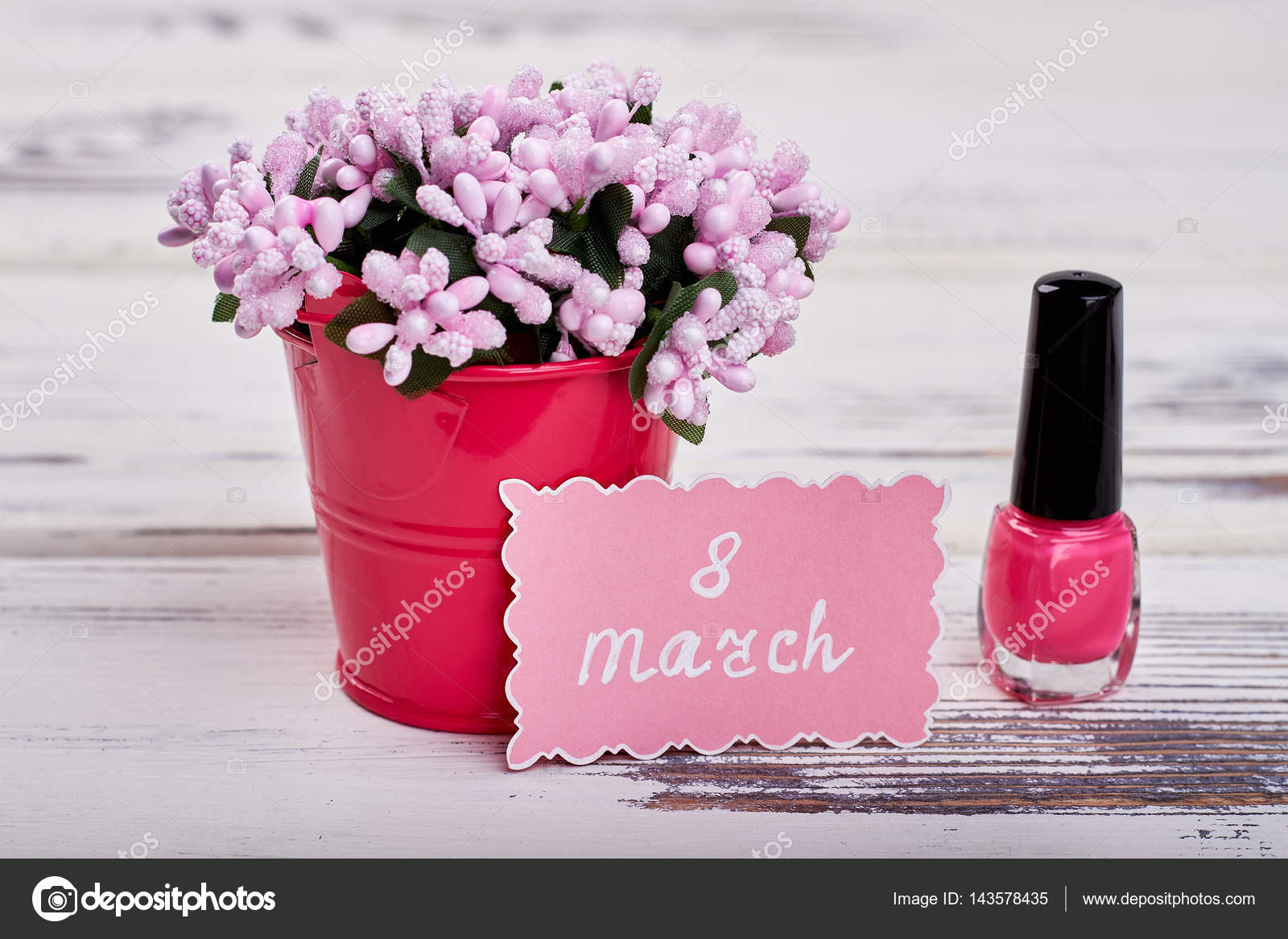 Nail polish flowers and card stock photo denisfilm 143578435 nail polish flowers and card 8 march is womens day photo by denisfilm izmirmasajfo