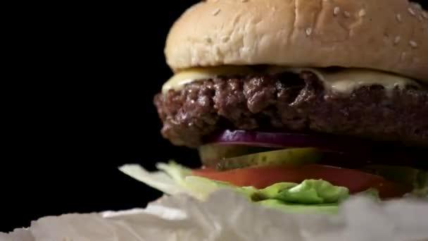 Close-up of a burger.