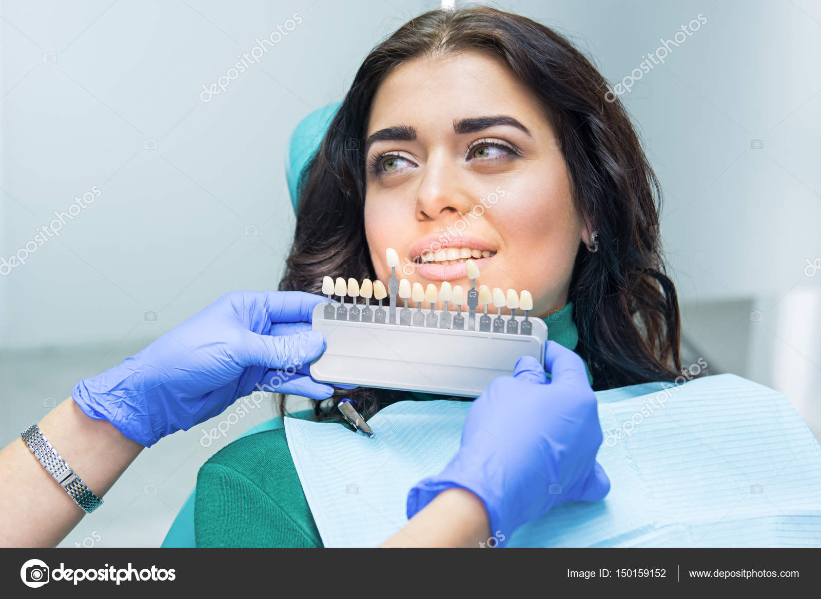 Patient And Teeth Color Chart Stock Photo Denisfilm 150159152