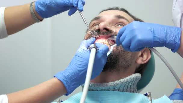 Patient with dental doctors.