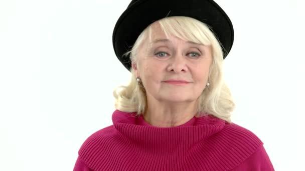 Stará žena zobrazeno mlčení geture