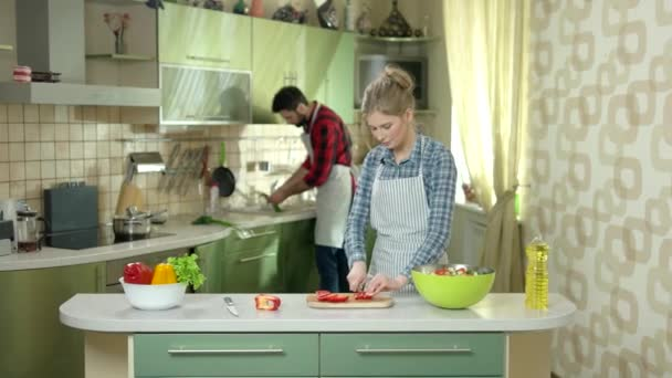 Kitchen and couple.