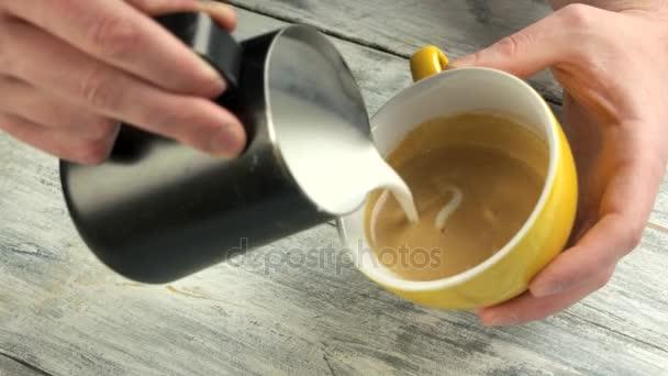 Ömlött a latte art, zár-megjelöl.
