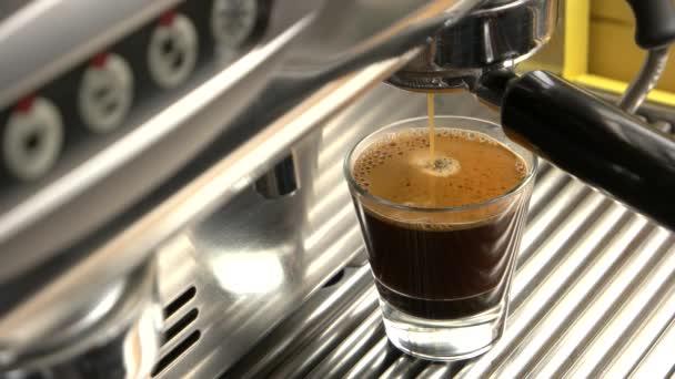 Espresso with foam close up.
