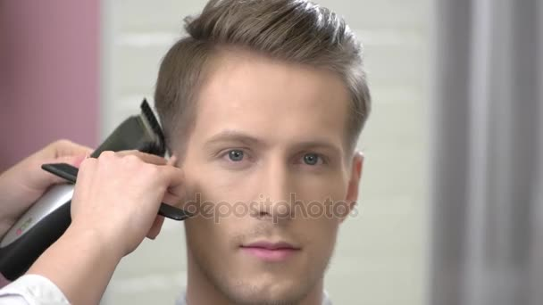 Handsome Guy Getting A Haircut Stock Video Denisfilm 161775008