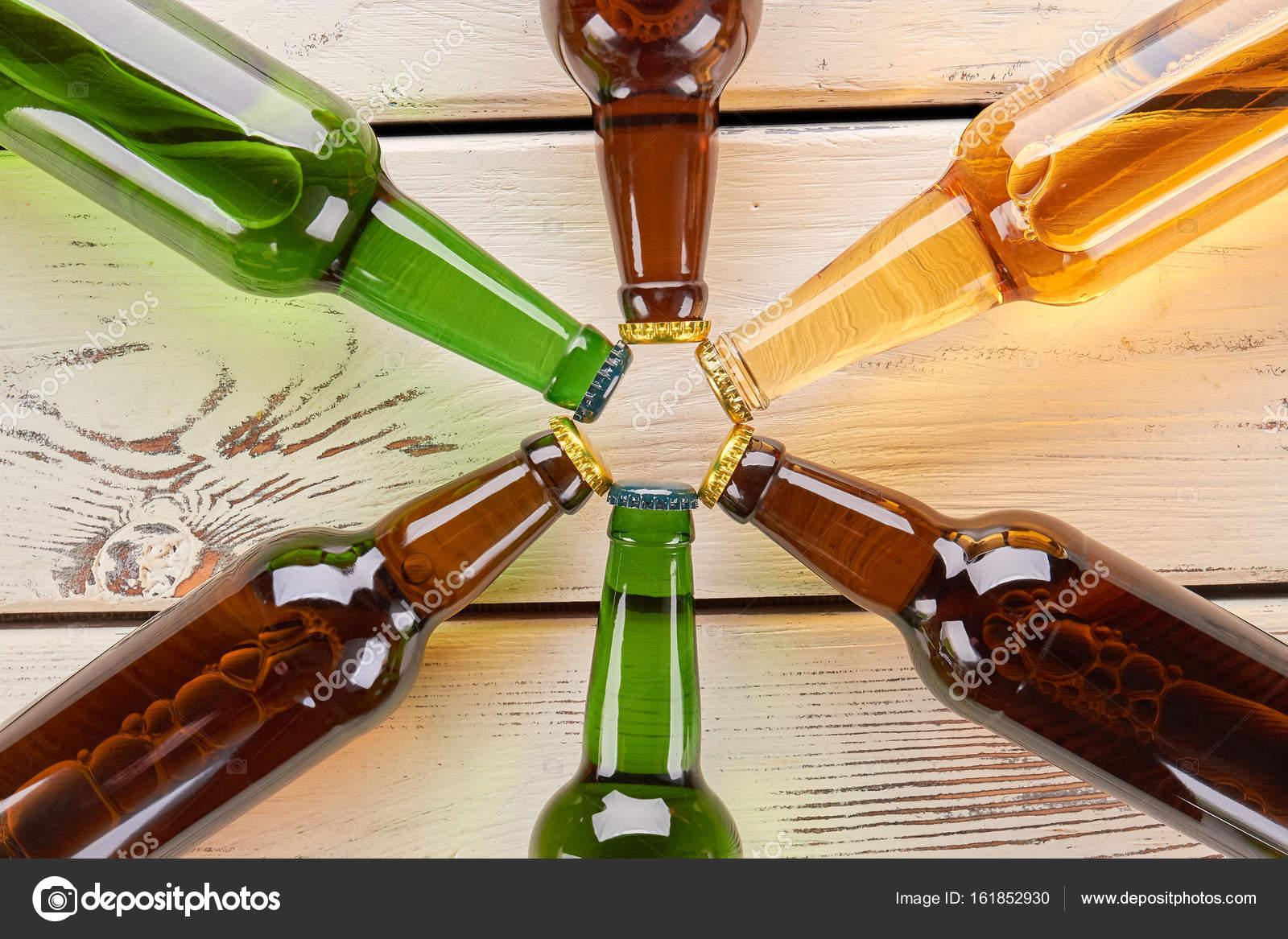 Beer Bottle Table Decorations Beer Bottles Decoration Close Up Stock Photo C Denisfilm 161852930