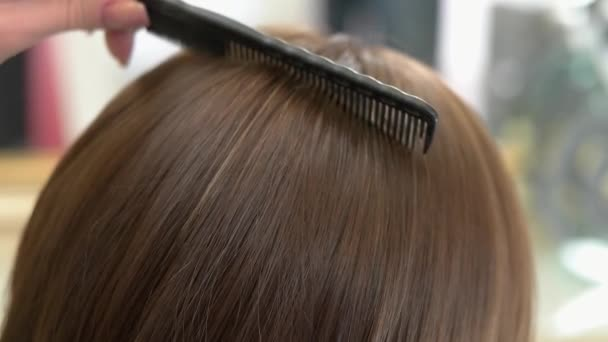 Hřeben kartáč ženské vlasy.