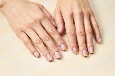 Female gentle hands.