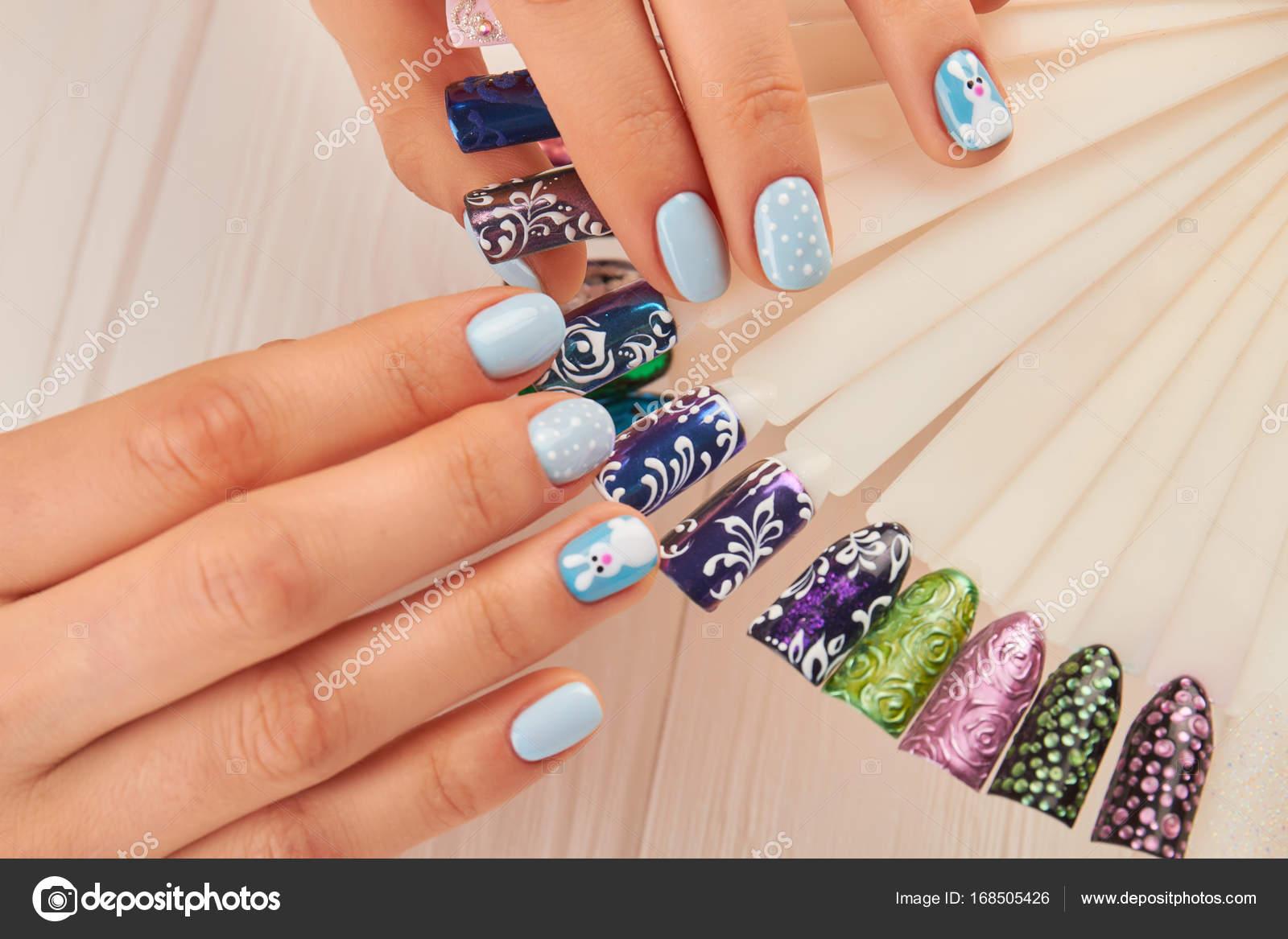 Beautiful manicure and nail art samples. — Stock Photo © Denisfilm ...