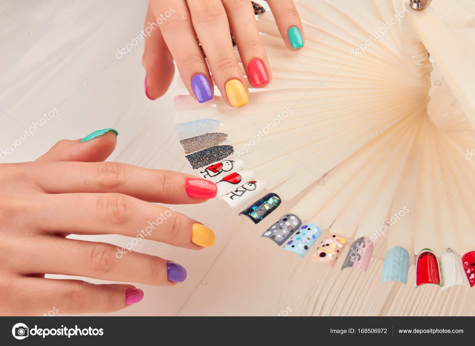 Stylish manicure and nail art samples. — Stock Photo © Denisfilm ...
