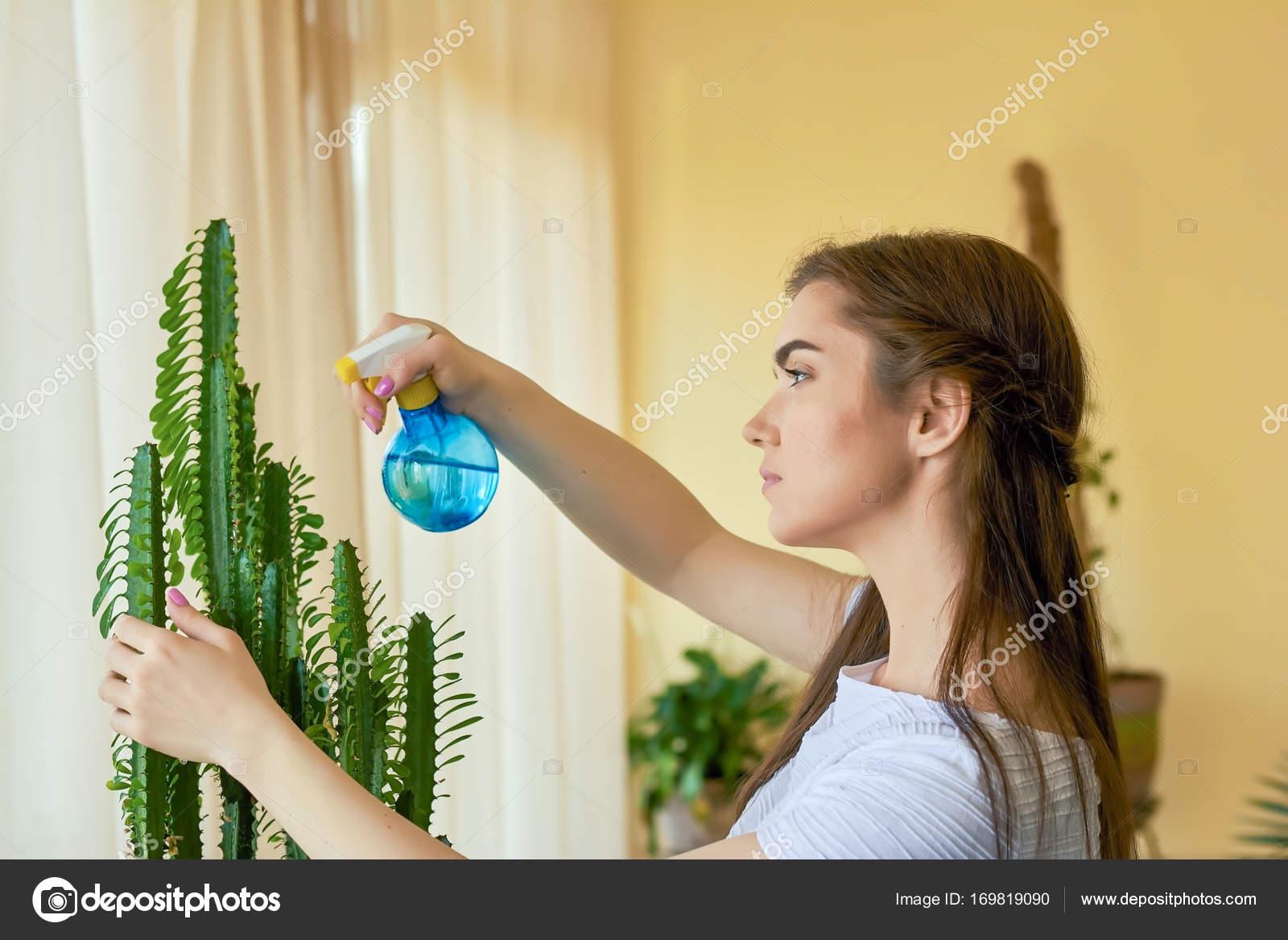 Vrouw hoe te spuiten