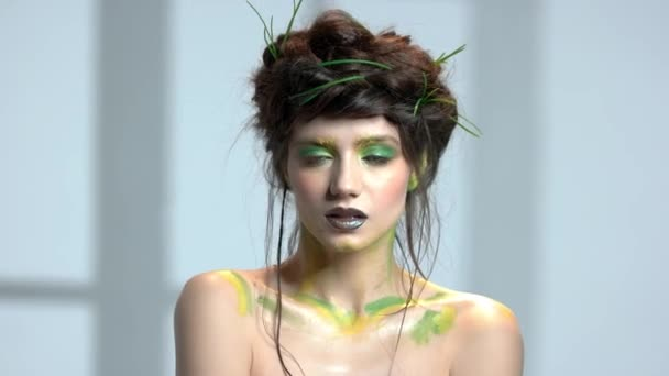 Beautiful nature themed makeup.