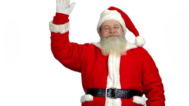 Santa mávl rukou, samostatný.