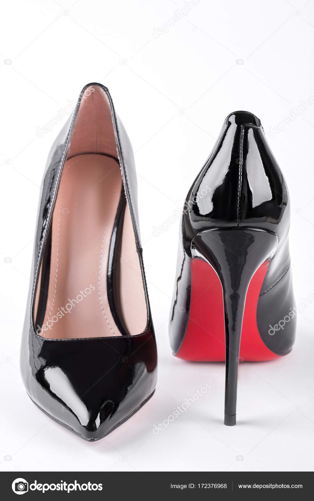 énorme réduction cc61a 53cef Female fashion louboutin shoes. — Stock Photo © Denisfilm ...