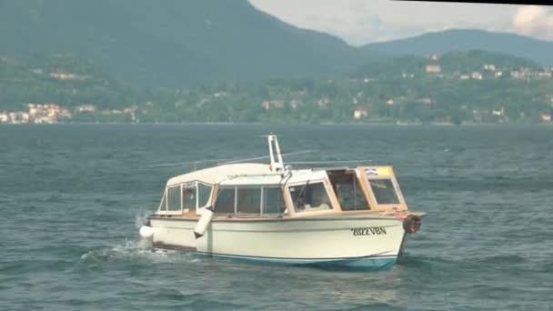 Maggiore lake, small tourist boat.