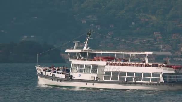 Tourist boat on lake Maggiore.
