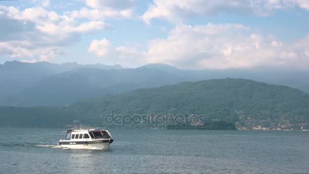 Tourist boat on Maggiore lake.