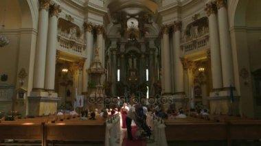 Wedding in a church.