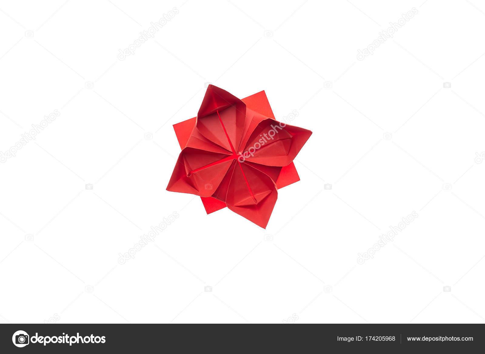 Lotus Flower Origami On White Stock Photo Denisfilm 174205968
