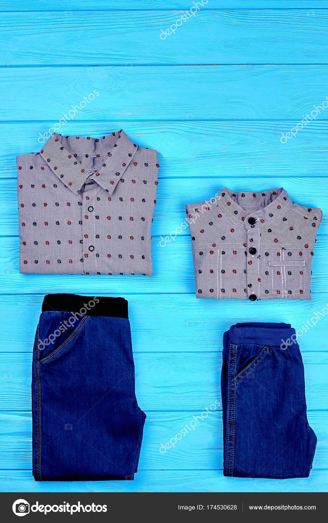 49e46783cc6 Set van merkkleding voor jongens. — Stockfoto © Denisfilm #174530628