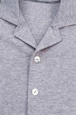 Collar and buttons of shirt