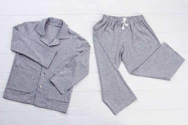 Boys pajama set on white