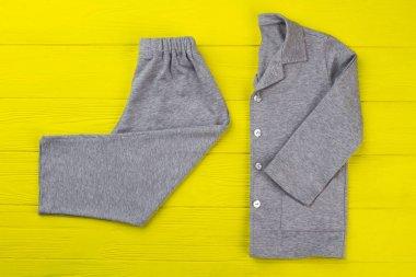 Gray melange pajama set