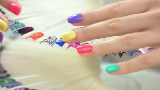 Beautiful Summer Manicure And Nail Art Samples Stock Video