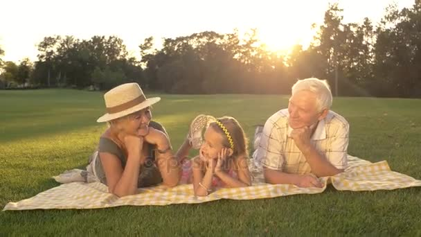 Idősek és unokája rendelkező többi park.