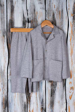 Gray melange pajama suit
