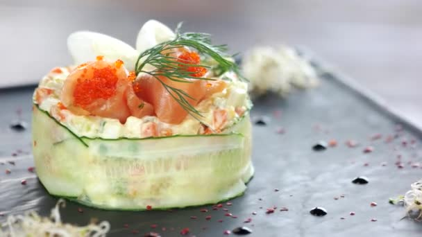 Olivier salad close up.