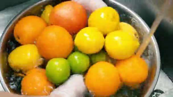Fresh citrus fruits.