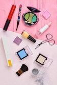 Kosmetika Make-up objekty, pohled shora.