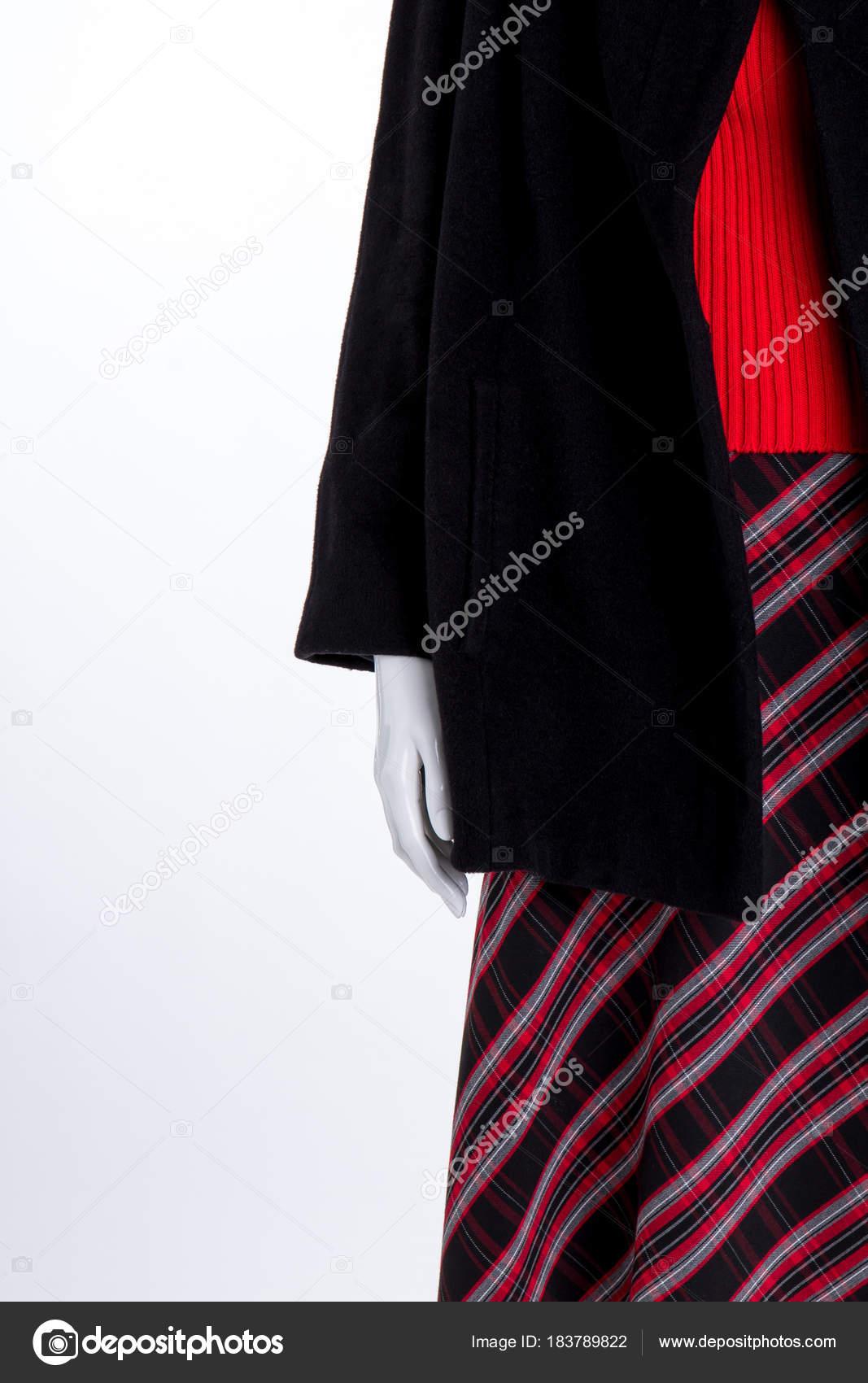 c2a81f6f7c Cerca de capa negra y falda de rayas — Fotos de Stock © Denisfilm ...