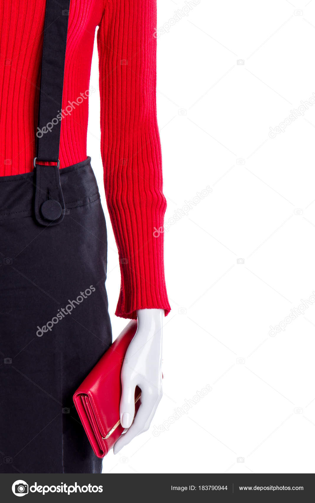 Trui en een zwarte broek, kopie ruimte. — Stockfoto