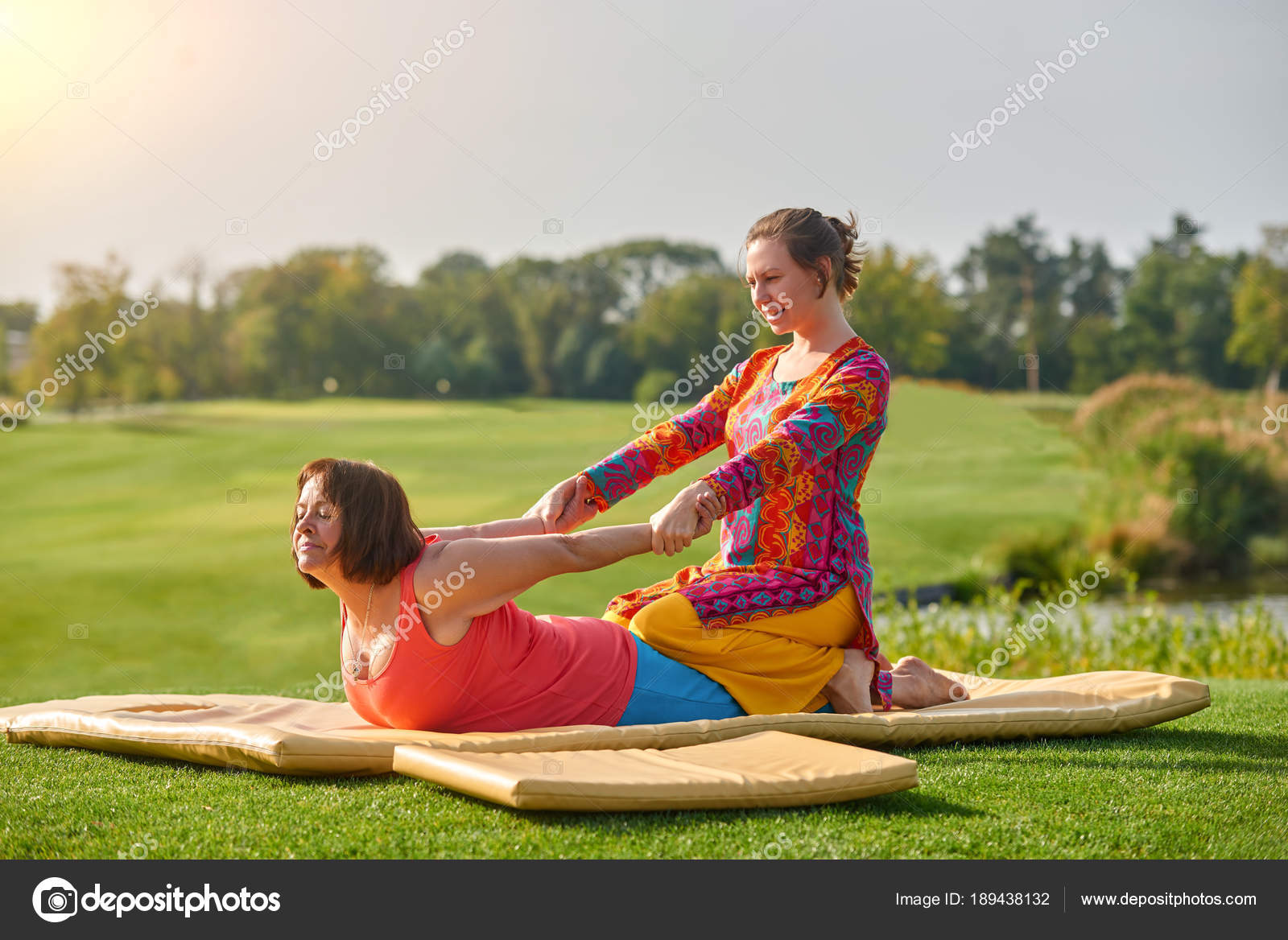 Outdoor park massage